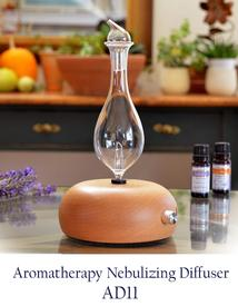 Nebulizer-Diffuser-Rounded Light Wood Beech Base