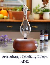 Nebulizer-Diffuser-Rounded Dark Wood Beech Base