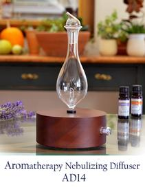 Nebulizer-Diffuser-Round Cylinder-shaped Dark Wood Pine Base