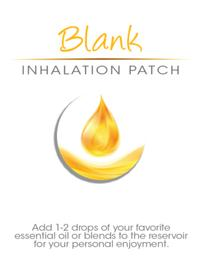 Blank Inhalation Patches for Essential Oils