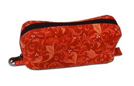 Essential Oil Case- Red Pink Flourishes Scrolls-Large