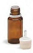 10 ml. Amber Boston Round Glass Bottle