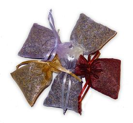 Scented Dried Lavender in 3x4 inch Organza Sachet Bags