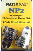 National NP2 Vintage Metal Finger Pick-Pkg. of 4