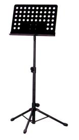 Deluxe Music Stand with Punched Holes-Black