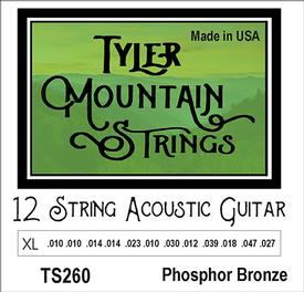 Tyler Mountain TS260 12 String Acoustic Guitar Strings Extra Light-Phosphor Bronze
