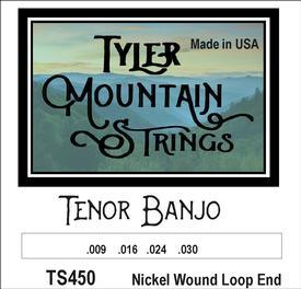 Tyler Mountain TS450 Tenor Banjo Strings-Nickel Wound Loop End