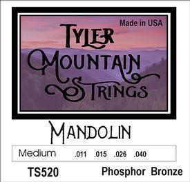 Tyler Mountain TS520 Mandolin Strings Medium-Phosphor Bronze Loop End