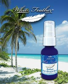 White Feather Radiant Anti-Blemish Blend in Jojoba Oil with Marine Complex-1 oz.