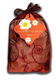 Calming Lavender and Rose de Mai Herbal Tea Bath - Set of 2