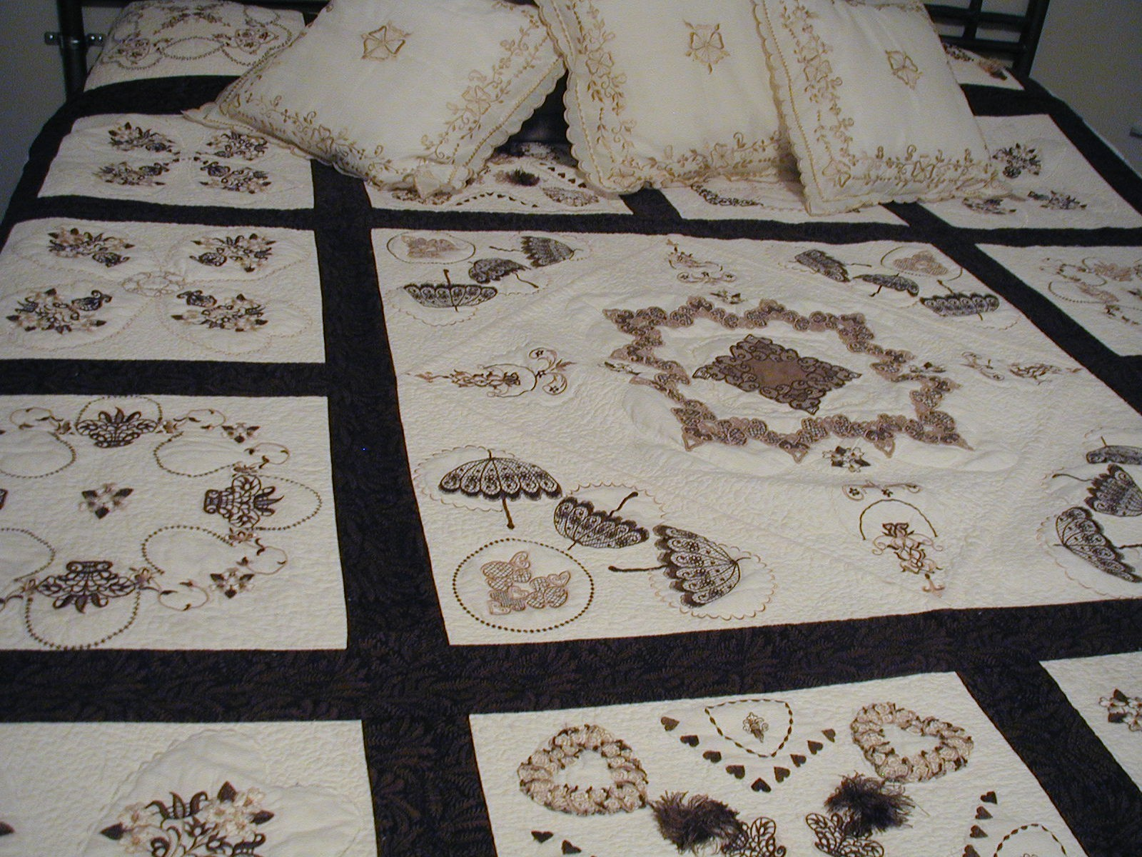 Latte Quilt - High Embroidery California King Quilt-Detail-b.jpg
