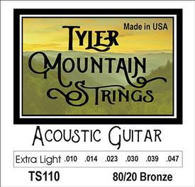 Tyler Mountain TS110 Acoustic Guitar Strings Extra Light- 80/20 Bronze-SPECIAL PRICING AVAILABLE FROM DEALERS