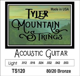 Tyler Mountain TS120 Acoustic Guitar Strings-Light-80/20 Bronze-SPECIAL PRICING AVAILABLE FROM DEALERS