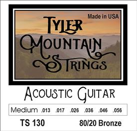 Tyler Mountain TS130 Acoustic Guitar Strings Medium- 80/20 Bronze-SPECIAL PRICING AVAILABLE FROM DEALERS