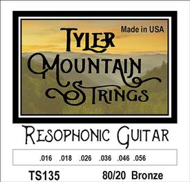 Tyler Mountain TS135 Resophonic Guitar Strings 80/20 Bronze-SPECIAL PRICING AVAILABLE FROM DEALERS