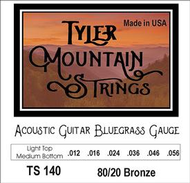 Tyler Mountain TS140 Acoustic Guitar Strings Bluegrass Gauge-Light Top- 80/20 Bronze-SPECIAL PRICING AVAILABLE FROM DEALERS