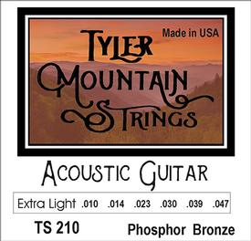 Tyler Mountain TS210 Acoustic Guitar Strings Extra Light-Phosphor Bronze-SPECIAL PRICING AVAILABLE FROM DEALERS