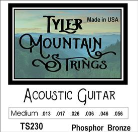 Tyler Mountain TS230 Acoustic Guitar Strings Medium-Phosphor Bronze-SPECIAL PRICING AVAILABLE FROM DEALERS