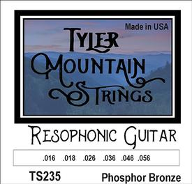 Tyler Mountain TS235 Resophonic Guitar Strings Phosphor Bronze-SPECIAL PRICING AVAILABLE FROM DEALERS
