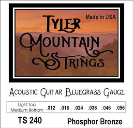 Tyler Mountain TS240 Acoustic Guitar Strings-Bluegrass Gauge-Phosphor Bronze-SPECIAL PRICING AVAILABLE FROM DEALERS