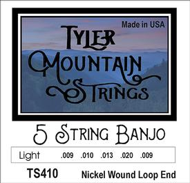 Tyler Mountain TS410 Banjo Strings-Light- 5 String- Nickel Wound Loop End-SPECIAL PRICING AVAILABLE FROM DEALERS