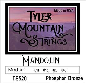 Tyler Mountain TS520 Mandolin Strings Medium-Phosphor Bronze Loop End-SPECIAL PRICING AVAILABLE FROM DEALERS