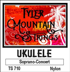 Tyler Mountain TS710 Ukulele Strings Soprano-Concert-Nylon SPECIAL PRICING AVAILABLE FROM DEALERS