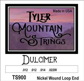 Tyler Mountain TS900 Dulcimer Strings-Nickel Wound Loop End-SPECIAL PRICING AVAILABLE FROM DEALERS
