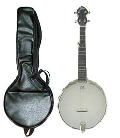 Tyler Mountain TMBR-100 Banjorine (Open-Back Travel Banjo) with Leather Gig Bag