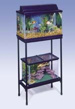 TANK STANDS - METAL  - CONTEMPORARY SQUARE DESIGN - BLACK -20 GALLON HIGH