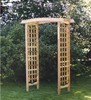 "<br>Pergola Garden Arbor: GA87U <br> Outer Dimensions: 60"" Wide, 25"" Deep, 86"" High <br>  Inner Dimensions: 45"" Wide, 22"" Deep, 84"" High<br>Weight: 38 Pounds<br>Free Shipping Included !!!"