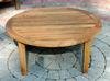 "<br>36"" Teak Round Coffee Table (Price: $469.00)<br> ( 4"" Smaller Than Shown in Photo )<br> Dimensions: 32"" Diameter, 17"" High<br> Weight: 27 Pounds<br> Free Shipping !!!"