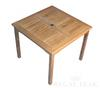 "<br>36"" Teak Square Bistr Table (Price: $462.47)<br> Dimensions: 36"" Wide, 36"" Deep, 30"" High <br>Table Top Thickness: 1-1/4"" <br>Weight: 65 Pounds<br> Free Shipping Included"