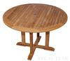 "48"" Teak Round Dining Table (Price: $736.45)<br> Dimensions: 48"" Diameter, 30"" High<br> Table Top Thickness: 1-1/4""<br> Weight: 70 Pounds<br> Free Shipping Included"