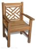 "<br> 24"" Teak English Chippendale Armchair (Price: $380.00) <br>Dimensions: 24"" Wide, 20"" Deep, 36"" High<br> Seat Height: apx. 17"" <br>Weight: 32 Pounds<br> Free Shipping Included"