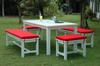 Anderson Teak Dining Set-P12 (Price: $2,030.00)&lt;br&gt;Table: 72&quot; Long, 36&quot; Wide, 30&quot; High, 100 Lbs.&lt;br&gt; Long Benches:  59&quot; Long, 18&quot; High, 17&quot; Wide, 50 Lbs.&lt;br&gt; Short Benches: 24&quot; Long, 18&quot; High, 17&quot; Wide, 25 Lbs&lt;br&gt;Set Wt: 250 Lbs &lt;br&gt;Free Shipping !!!.