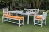 Anderson Teak Dining Set-P15 (Price: $2,365.00)&lt;br&gt; Table: 72&quot; x 36&quot; x 30&quot;, 100 Lbs.&lt;br&gt; Garden Bench: 59&quot; x 36&quot; x 25&quot;, 70 Lbs.&lt;br&gt; Backless Bench: 59&quot; x 18&quot; x 17&quot;, 50 Lbs.&lt;br&gt;Chairs: 22&quot; x 36&quot; x 25&quot;, 40 Lbs. &lt;br&gt;Set Wt: 270 Lbs.&lt;br&gt; Free Shipping