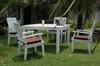 Anderson Teak Dining Set-P17 (Price: $1,655.00)&lt;br&gt; Table: 47&quot; Long, 47&quot; Wide,, 30&quot; High, 85 Lbs.&lt;br&gt; Chairs: 24&quot; Wide, 37.5&quot; High, 22.5&quot; Deep, 38 Lbs. (each) &lt;br&gt;Set Weight: 237 Pounds&lt;br&gt; Shipping Weight: 305 Pounds&lt;br&gt; Free Shipping Included !!!