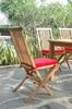 "Plantation Teak Folding Chair: CHF-2010 ($132.50 or less per chair) <br>Sold In Sets of Two Chairs<br>Dimensions: 18"" Wide, 22"" Deep, 38"" High (each)<br>Seat Depth: 18"" <br>Weight: 18 Pounds (each)<br> Free Shipping Included!!!"