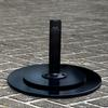 "Black Steel Umbrella Base (Price: $185.50)<br> Dimensions:  18"" Diameter, 12"" High<br> Weight: 52 Pounds <br> Free Shipping Included !!!"