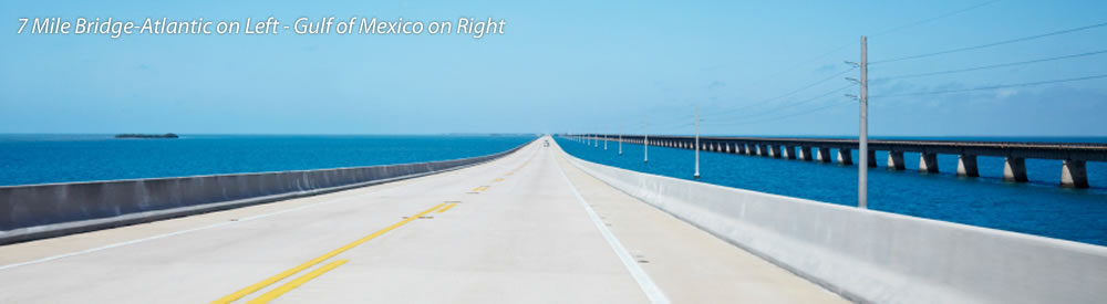 7 Mile Bridge-Atlantic on Left - Gulf of Mexico on Right