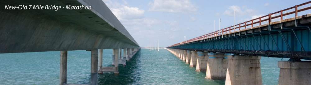 New-Old 7 Mile Bridge - Marathon