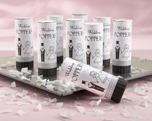 tossing confetti, wedding supplies, favors
