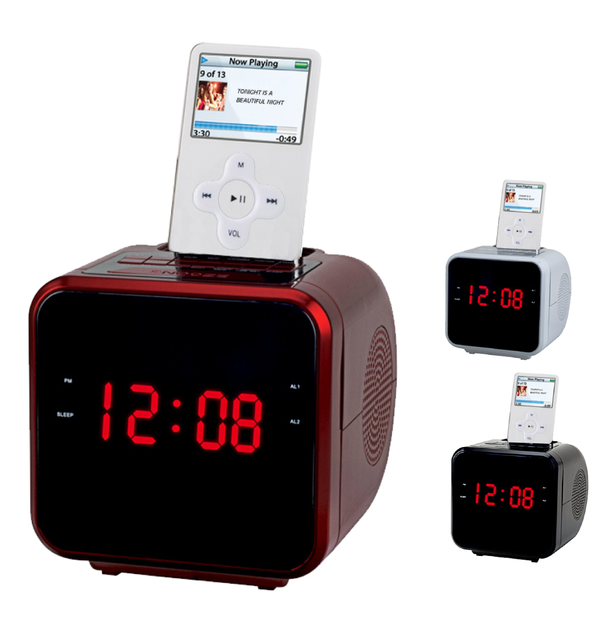 portable mp3 player speakers supersonic inc iq 1303 1 2 display a. Black Bedroom Furniture Sets. Home Design Ideas