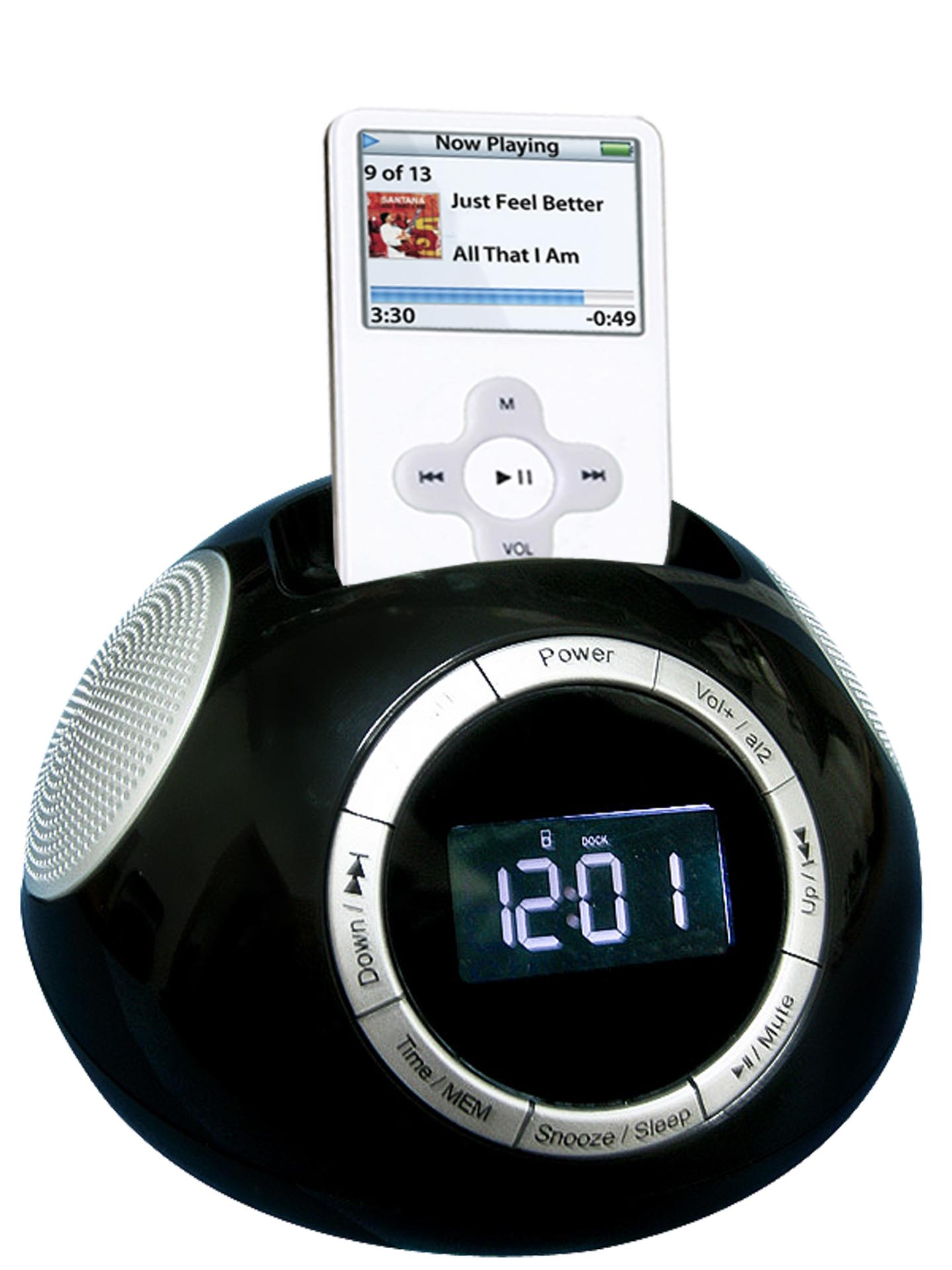 iphone clock radio