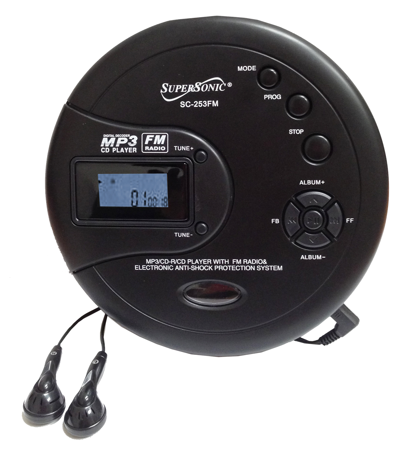portable cd mp3 players with cassette supersonic inc. Black Bedroom Furniture Sets. Home Design Ideas