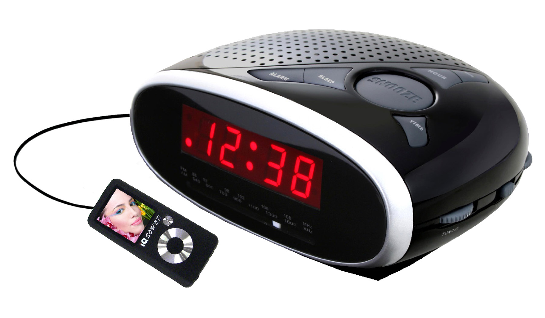 digital am fm alarm clocks supersonic inc sc 372 digital alarm clock with am fm radio. Black Bedroom Furniture Sets. Home Design Ideas