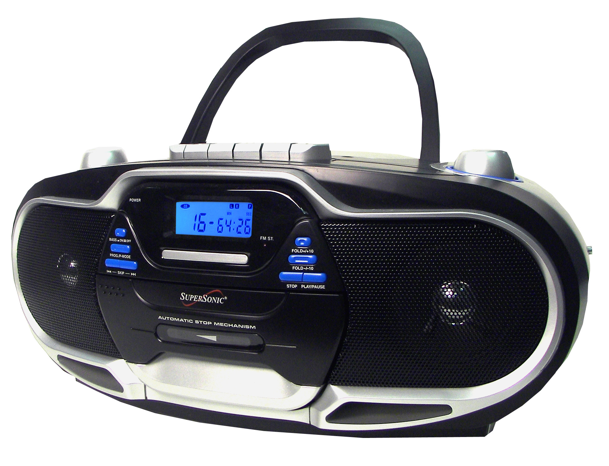 portable cd mp3 players with cassette supersonic inc sc 744 portable mp3 cd player with. Black Bedroom Furniture Sets. Home Design Ideas